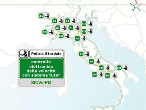 Tutor attivi in autostrada: la mappa aggiornata