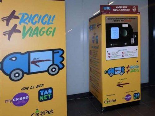 """Roma, plastica in cambio del biglietto metro. Parte il progetto """"+Ricicli +Viaggi"""""""